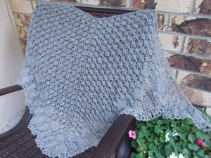 Evelyn Clark's Deciduous Leaf Shawl in Jorstad Creek Gotland Fingering Yarn