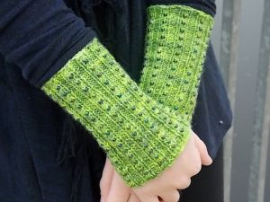Beaded Cuffs In Merino