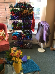 Display in Yorkshire Yarns