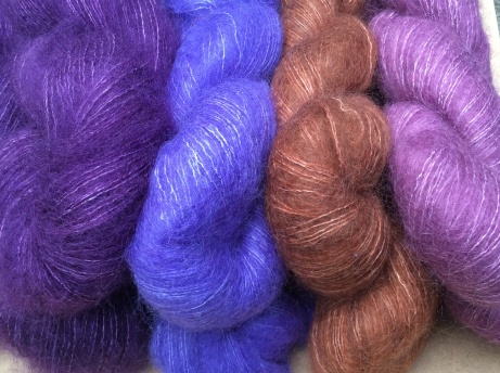 "Silk/Baby Mohair ""Isle of Skye"" in fall colors"